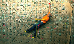 Video indoor climbing-Tecnica di arrampicata-il laterale-la traiettoria del bacino